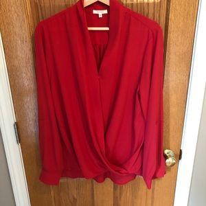 Faux wrap blouse